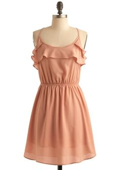 Peach Petals Dress | Mod Retro Vintage Printed Dresses | ModCloth.com - StyleSays