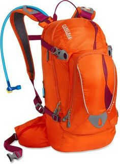 CamelBak LUXE hydration backpack, clementine / light purple