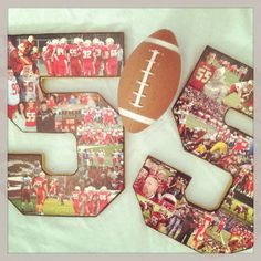 Jersey number collage...12 inch colorful 2 by MatchPointGifts