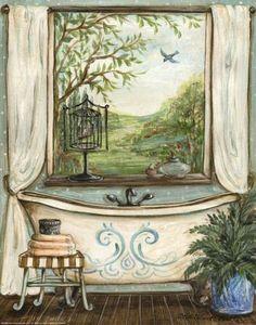 """Serene Bath II"" Art Print by Kate McRostie at http://eu.art.com"