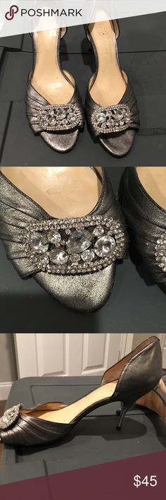 Ivanka trump peep toe pewter pump. Size 10 Amazing gorgeous shoes. Wore once for a party! So comfortable and fashionable! Ivanka Trump Shoes Heels