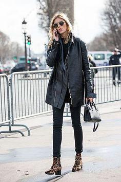 Model-Off-Duty: Get Anja Rubik's Leopard Print Boot Look (Le Fashion) Model-Off-Duty: Get Anja Rubik's Leopard Print Boot Look Look Fashion, Urban Fashion, Minimal Fashion, Fashion Black, Paris Fashion, Trendy Fashion, Runway Fashion, Fashion Trends, Glamouröse Outfits