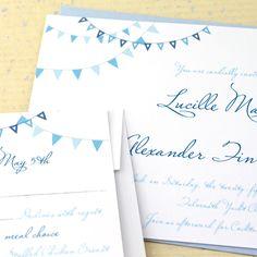 Pennant Beach Wedding Invitations by Concertina Press