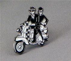 ★Ska couple on scooter. Ska pin badge. Vespa Lambretta | eBay
