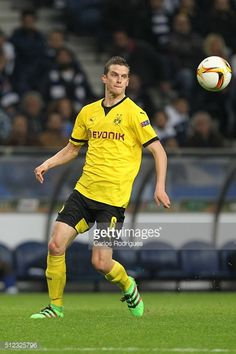 Dortmund's midfielder Sven Bender during the Champions League match between FC Porto and Borussia Dortmund for UEFA Europa League Round of 32: Second Leg at Estadio do Dragao on February, 2016 in...