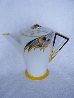 Shelley Art Deco Rare Butterfly Wing coffee pot | eBay