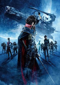 Uchuu Kaizoku Captain Harlock - finally saw the movie! And it's just as awesome as the trailer showed <3 The story is different from the 70's anime and I'm pretty sure the subs were completely wrong in some places (even with my very basic Japanese skills, I could see that) but on the whole, I enjoyed it very much. The visuals were stunning, the music as well and the seiyuus did an amazing job once again.