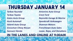 Ocean State Auto Auction - Featured Vehicles for Thursday January 14