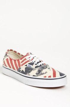 Patriotic pride. American flag Vans
