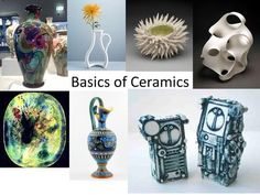 Basics of Ceramics. Ceramics Defined Pottery or hollow clay sculpture fired at high temperatures in a kiln to make them harder and stronger. What Is Clay, Slab Boxes, Clay Minerals, Coil Pots, Fire Clay, Clay Tools, Raku Pottery, Pinch Pots, Ceramics Projects
