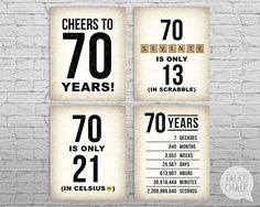 AprilLove Birthday Sign Pack, Birthday Posters, Cheers to 60 Years Sign, Birthday Decorations Mom Birthday Gift, 70th Birthday Parties, Birthday Cheers, 70th Birthday Ideas For Mom, Birthday Signs, 70 Birthday Cards, 80th Birthday Quotes, 60 Birthday Party Ideas, Grandpa Birthday