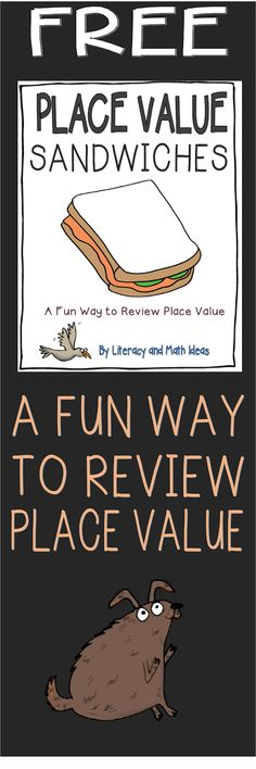 (FREE) Place Value Sandwiches Place Value Game~ This is a fun way to review place value.