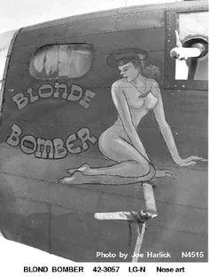 Blonde Bomber nose art.
