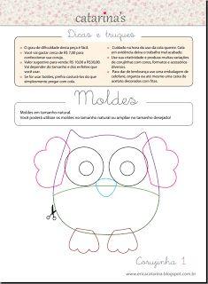 Wool Felt Owl 1 by Ei Menina! Owl Patterns, Applique Patterns, Craft Patterns, Sewing Patterns, Felt Owls, Felt Animals, Erica Catarina, Sewing Crafts, Sewing Projects