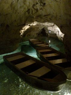 Tapolca Lake Cavern - Hungary (just love this place, you padle your own boat through the caves)
