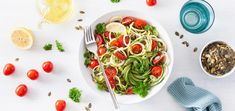 Yet another zucchini noodle recipe is about to impress your taste buds. These zoodles are tossed in a herbaceous mint parsley pesto.