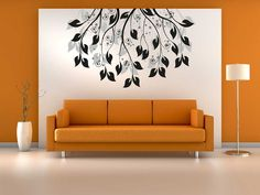 Drawing Room Painting Idea With Orange Color