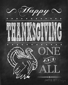 Happy Thanksgiving Chalkboard PRINTABLE. Turkey Fall Decor. Home Decor Wall Art. Fall Seasonal Sign. 8x10 DIGITAL file. $6.00