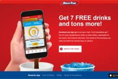 7 FREE 32 oz Drinks at RaceTrac Stores on http://www.freebies20.com/
