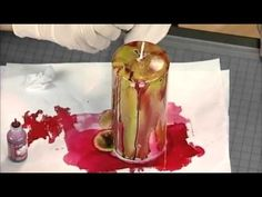 Learn how to make fancy candles with alcohol ink, as seen on Scrapbook Soup
