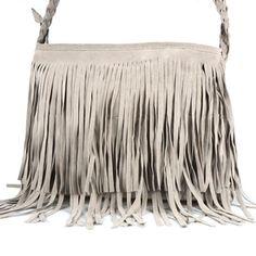 Hot Sale 2016 New Fashion Women's Suede Weave Tassel Popular Shoulder Bag Messenger Bag Fringe Handbags Free Shipping F020