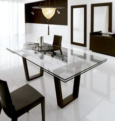 mesa de cristal para comedor targa