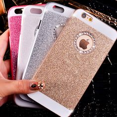 Bling Diamond Hard Back Case Apple iPhone, Luxury Fashion Glittering Case For iphone 5 / 5s / 6 / 6s /6 Plus FREE SHIPPING