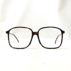 3940046ceae vintage 1980 s eyeglasses oversized round brown tortoise shell plastic  frames clear lenses prescription mens women eyewear eye glasses italy