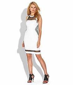 Laundry by Shelli Segal Crepe and Mesh Dress #Dillards
