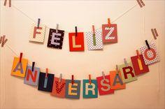 Feliz aniversário para o Joaquim | Varal comemorativo que fi… | Flickr