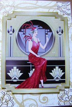red art deco card by: joannec