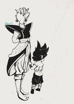 Zamasu and little Black <3