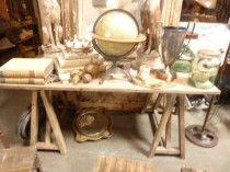 saw horse baywood table