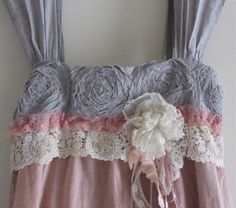 French Sugar Dress Shabby Sweet And Chic Ruffled Ruffle by IzzyRoo