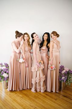 Two birds bridesmaid advertising campaign styled by merci new york #mauve