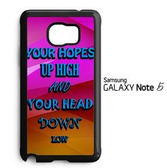 A Day To Remember Quote white D0279 Samsung Galaxy Note 5 Case