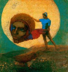 Odilon Redon (1840-1916) - The Fall Of Icarus [752x799]