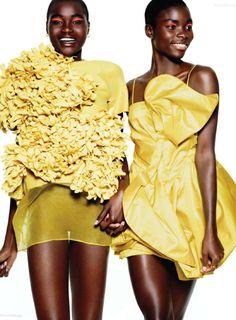 Harpers Bazaar US March 2011 - Ataui Deng & Jeneil Williams by Daniel Jackson
