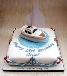 Nautical Birthday Cakes, Nautical Cake, 18th Birthday Cake, Birthday Cakes For Men, Themed Birthday Cakes, Themed Cakes, Nautical Theme, Marine Cake, Boat Cake