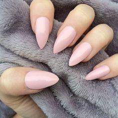 Pink Almond Nails Pinteres