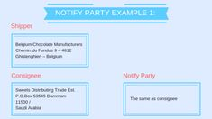 Notify Party of a Bill of Lading Bill Of Lading, Party Sweets