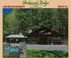Redwood Lodge - Hidden Creek Cabins  Sleeps 2-14.  Located in Bryson City, Nc near the Deep Creek Community.  Great for groups wanting to go hiking, biking, swimming, tubing, and fishing.