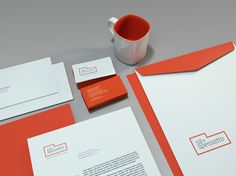 BR / BAUEN was hired by brazilian young Architects, Andréia Spessatto and Náira Sá, to take care their newborn architecture office brand identity design. Office Branding, Corporate Identity, Visual Identity, Logo Branding, Brand Identity Design, Graphic Design Branding, International Red Cross, Letterhead, Stationary
