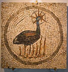 Roman Mosaic. Phoenix. Aquileia, Italy #roman #mosaic