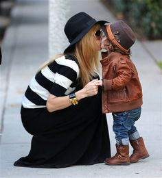 Rachel Zoe and her stylish little guy Skyler