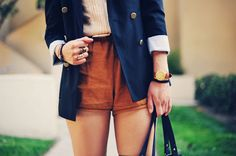 Love this jacket with shorts