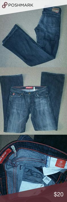 """Big Star Jeans womens size 27R flare Big Star Jeans """"Flary"""" style, women's size 27 Regular. Stretchy. Good condition. Dark wash jeans. Big Star Jeans Flare & Wide Leg"""