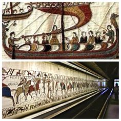 Bayeux Tapestry - to give you scale ... and it continues back down the other side!