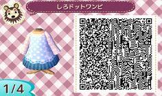 Lacy blue dress QR Codes Animal Crossing New Leaf