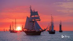 These sailboats in Warnemünde, Germany, set the scene perfectly for International Talk Like a Pirate Day. The holiday (yeah, we're call...